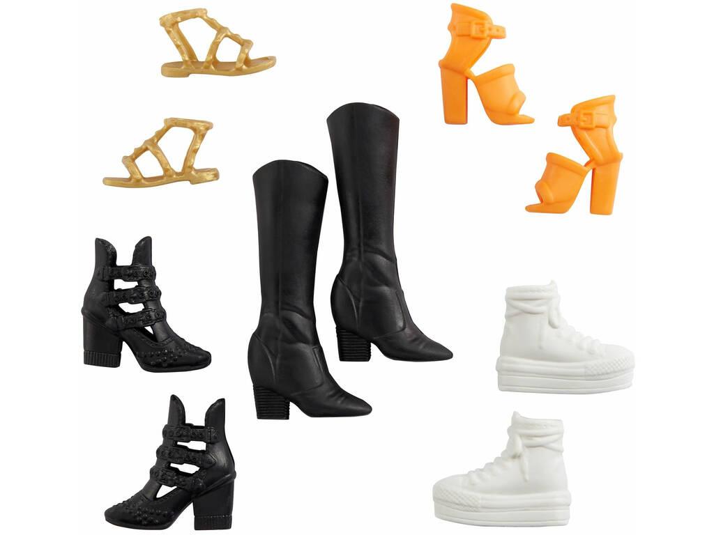 Barbie Zapatos Pack Botas Negras Mattel GXG01