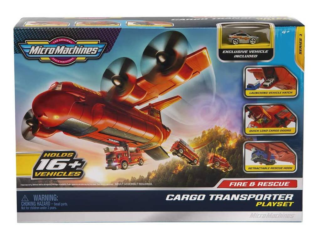 Micromachines Avión Transporte Playset Toy Partner