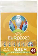 Euro 2020 Pack pour Démarrer la Collection Album avec 6 Pochettes Panini 9788427872257