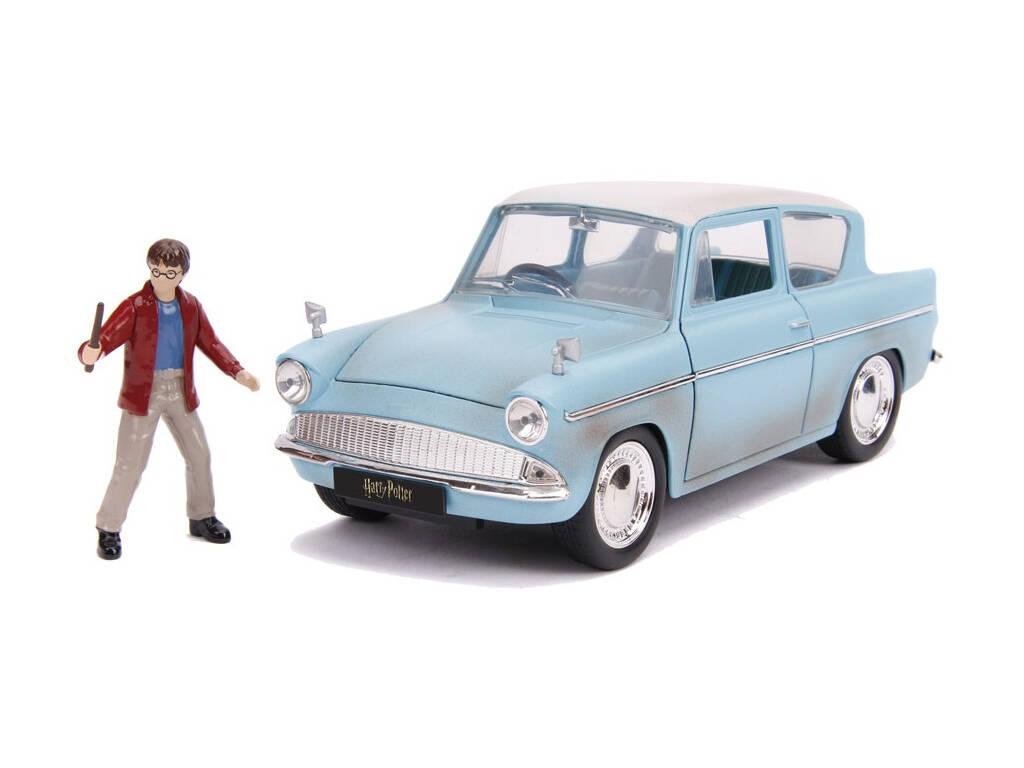Harry Potter Coche Metal 1:24 Ford Anglia 1959 con Figura Simba 3185002