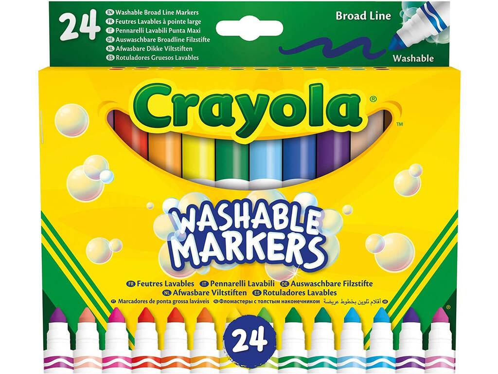 24 Rotuladores Super Lavables Maxi Punta Crayola 58-6570