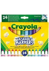 24 pennarelli Pastello Super Lavabili Maxi Point Crayola 58-6570