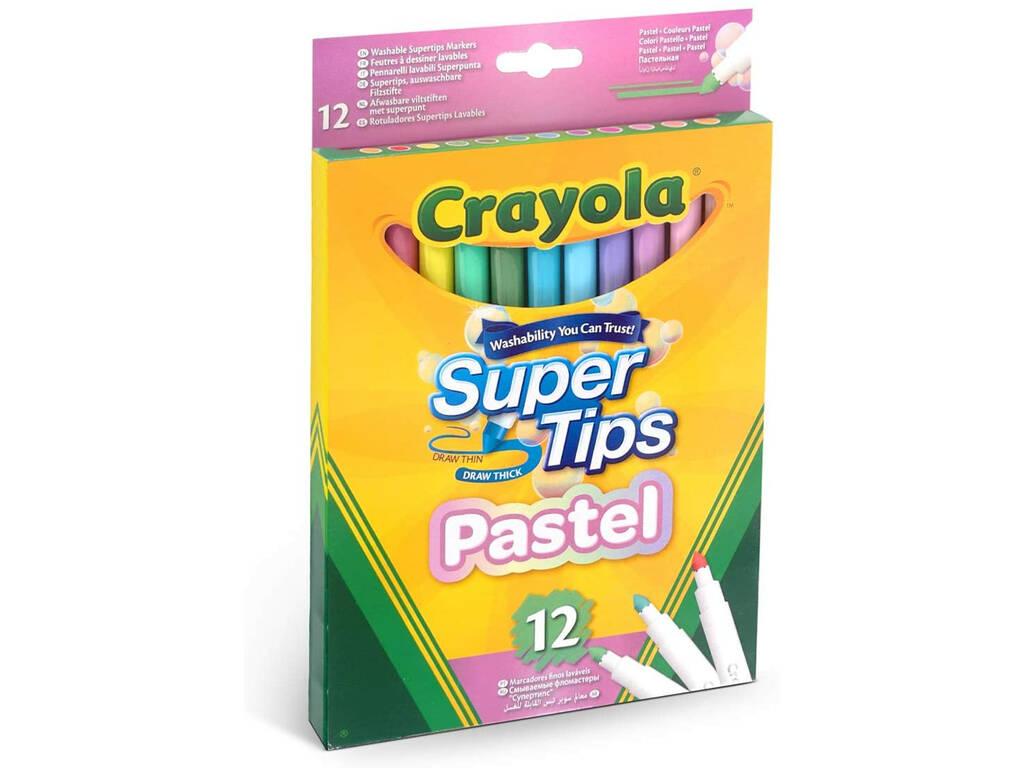 12 Crayola 58-7515 Crayola Crayon Super Sharpeners Washable Pastel Colors