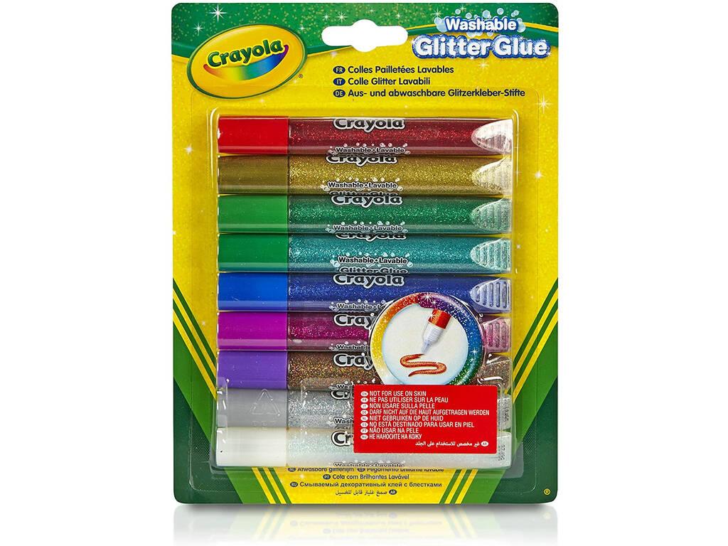 9 Pegamentos de Purpurina Lavables Crayola 3527