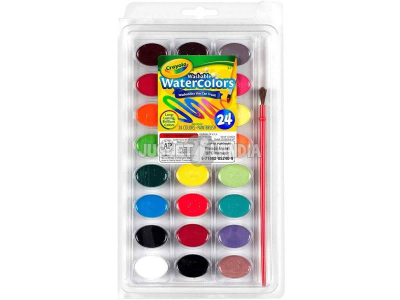 24 Acuarelas Lavables Crayola 528