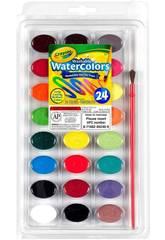 24 aquarelles lavables Crayola 528
