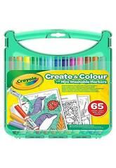 Maletín Rotuladores Lavables 65 Piezas Crayola 04-5227