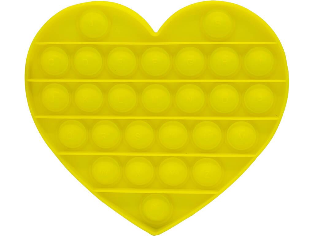 Pop It Corazón Amarillo