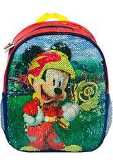 Mochila 2 en 1 Mickey Get Set! Gooo! con Lentejueleas Reversibles Toybags T323-069