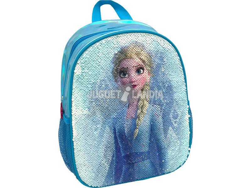 Mochila 2 en 1 Frozen Elsa y Ana con Lentejuelas Reversibles Toybags T300-120