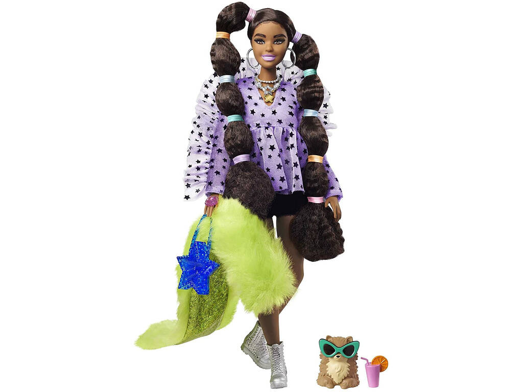 Barbie Extra Coletas Burbujas Mattel GXF10