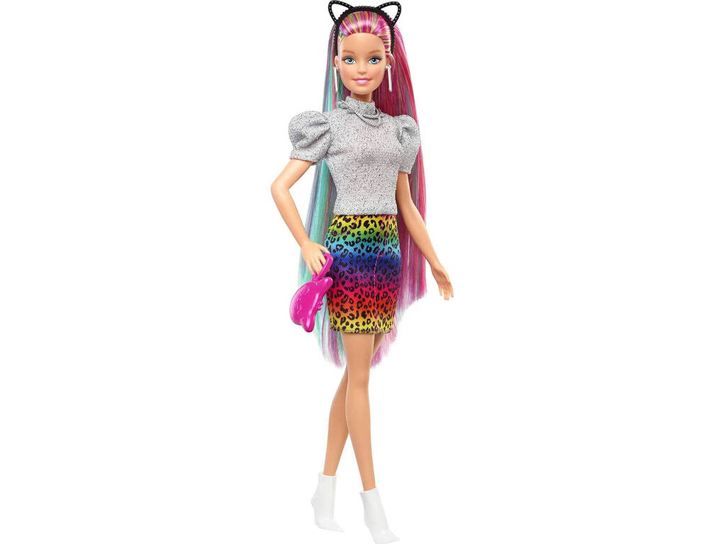 Barbie Pelo Arcoíris Guepardo Mattel GRN81