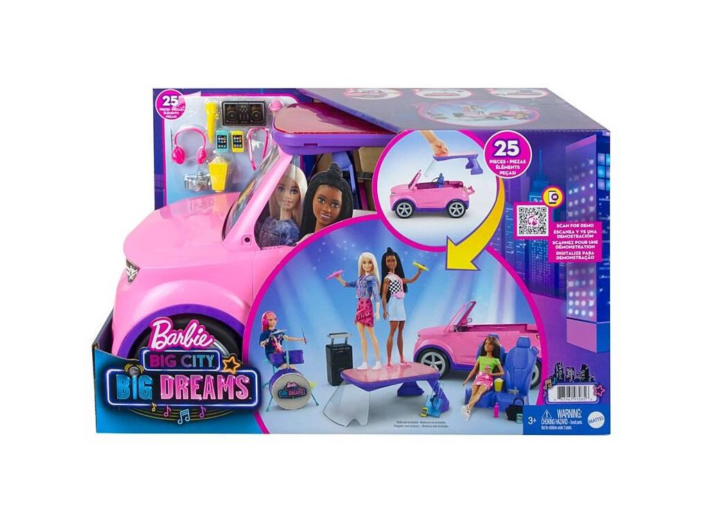 Barbie Big City Big Dreams Coche Musical Mattel Gyj25 Juguetilandia
