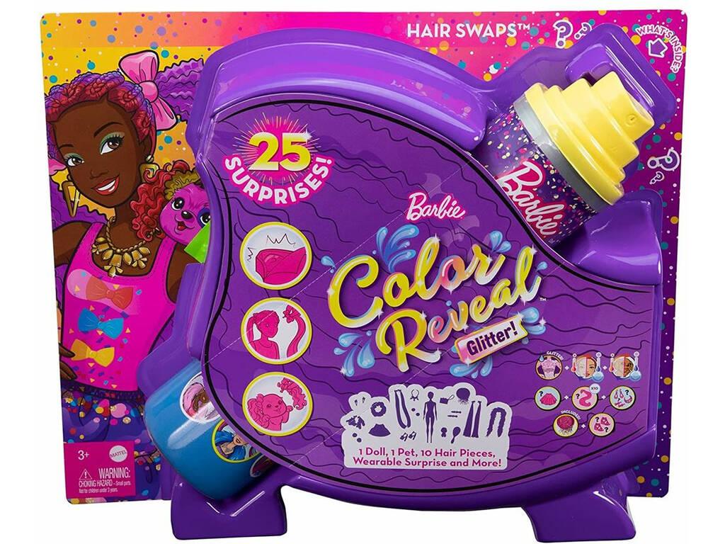 Barbie Muñeca Color Reveal Peinados Lazos Mattel HBG40