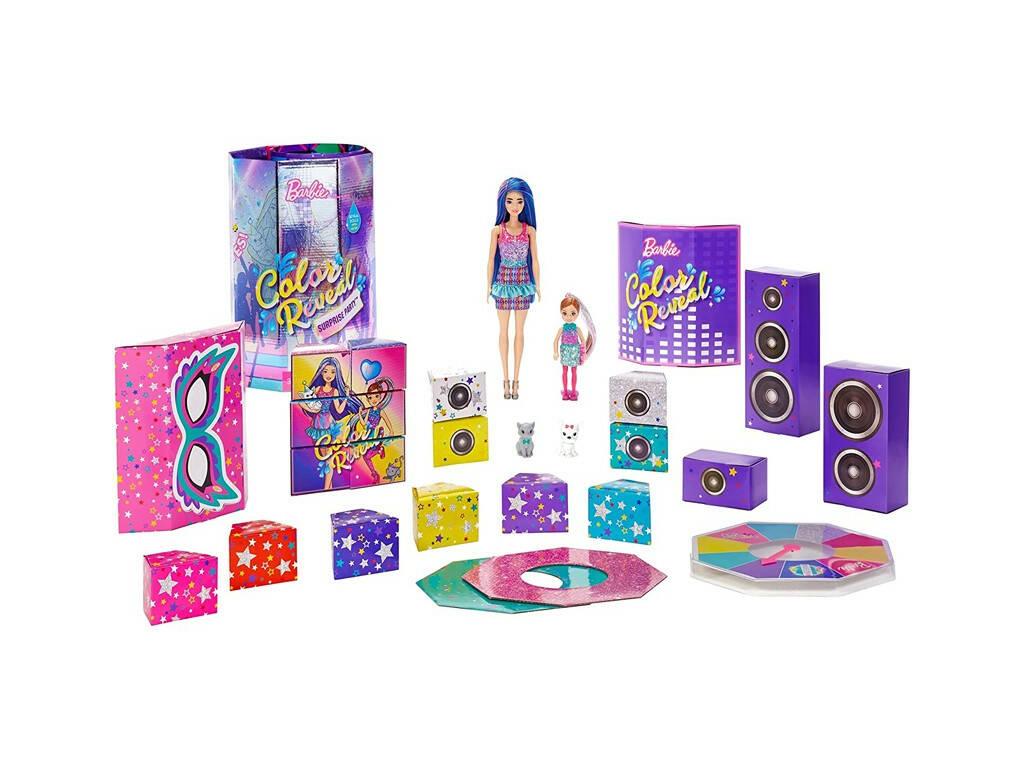 Barbie Color Reveal Set Fiesta Sorpresa Mattel GXJ88