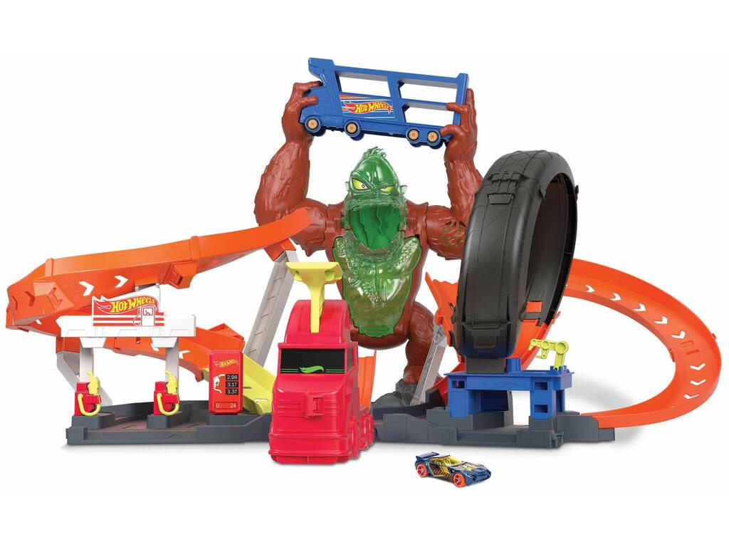 Hot Wheels City Vs Toxic Creatures Ataque de Gorila Tóxico Mattel GTT94