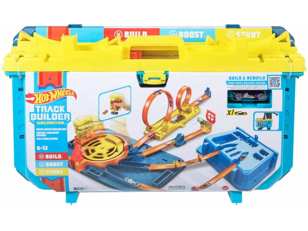 Hot Wheels Caja con Constructor Lanzador Veloz Mattel GVG11