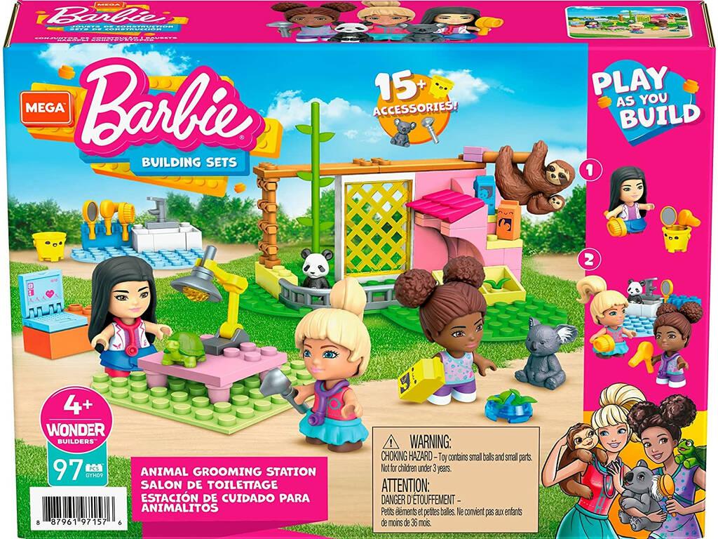 Barbie Mega Construx Estación de Cuidado para Animalitos Mattel GYH09