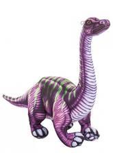 Peluche Dinosaurio Lila 36 cm. Creaciones Llopis 46861