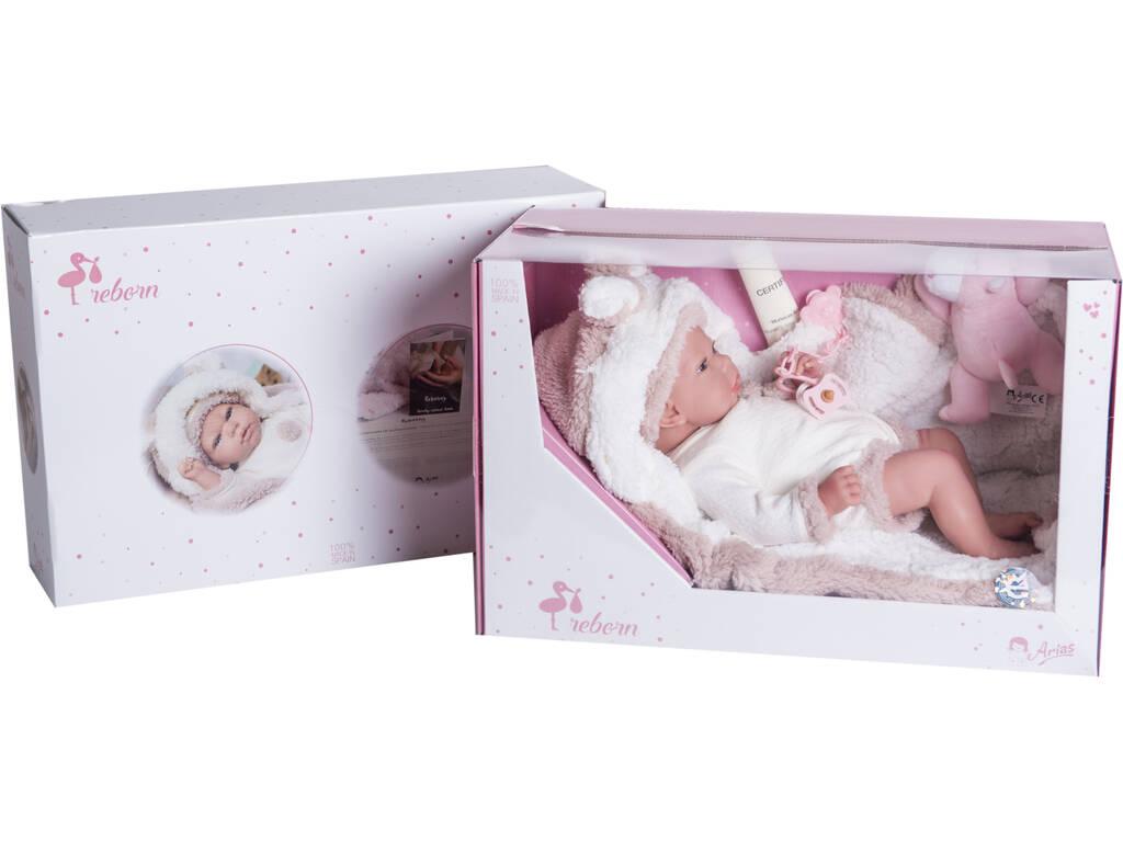 Muñeca Reborn Anna 40 cm. Con Manta y Peluche Arias 98053