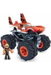 Mega Construx Hot Wheels Monster Trucks Tiger Shark Mattel GVM26