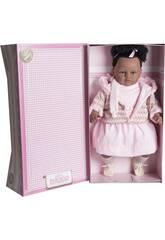 Muñeca Baby Dulzona Mulata 62 cm. Llorona Vestido Rosa Berbesa 8048