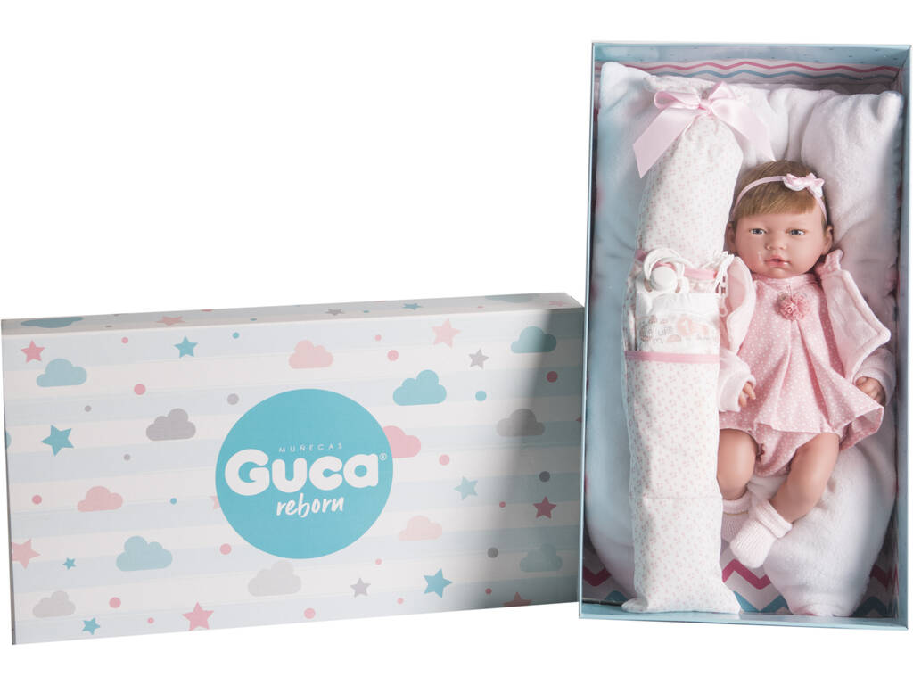 Muñeca Reborn Daniela 38 cm. Guca 10215