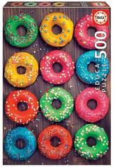 Casse-tête 500 beignets colorés Educa 19005