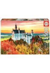 Casse-tête 1500 L'automne à Neuschwanstein Educa 19042