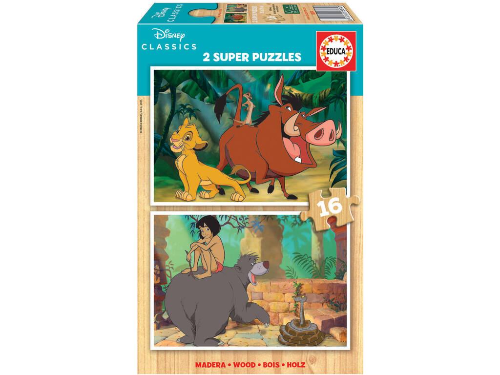 Puzzle Madera 2x16 Disney Classics Educa 18874
