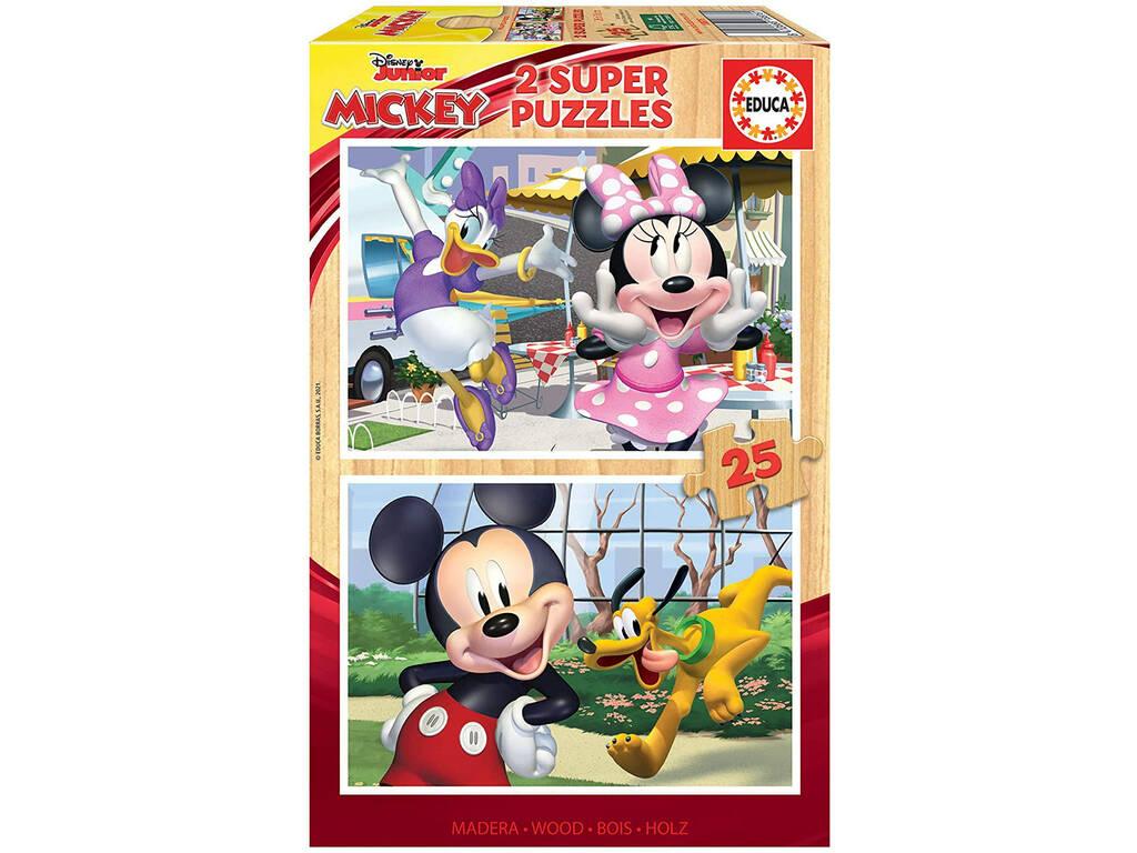 Puzzle 2x25 Mickey & Friends Educa 18876