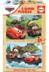 Puzzle Madera 2x25 Cars Educa 18877