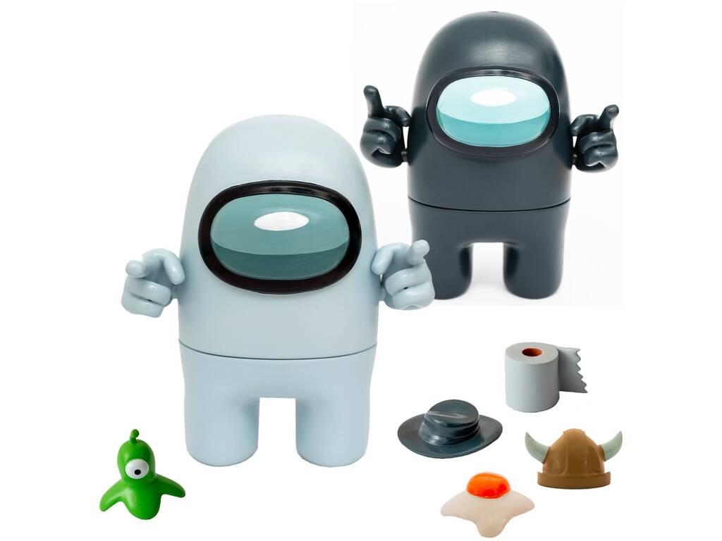 Among Us Pack 2 Figuras de Acción con Accesorios Bizak 6411 6015