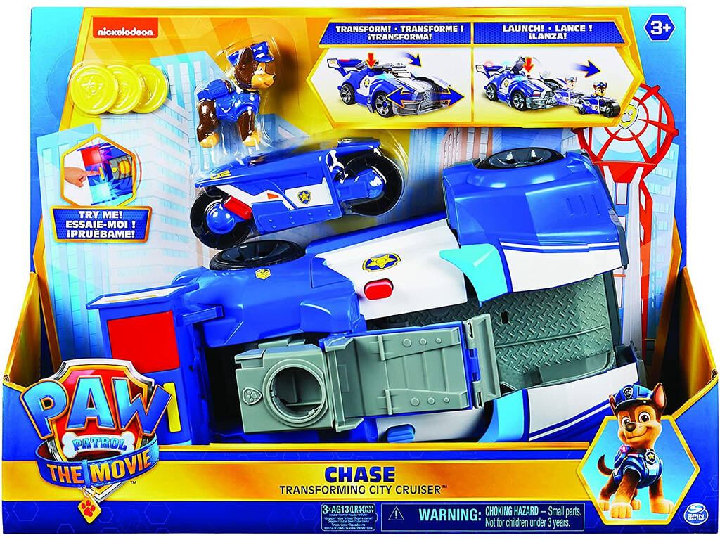 Paw Patrol The Movie Vehículo Transformable Chase Bizak 6192 7732