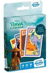Baraja Infantil Shuffle 4 en 1 Raya y El Ultimo Dragón Fournier 10025069