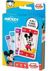 Baraja Infantil Shuffle 4 en 1 Mickey and Friends Fournier 10025072