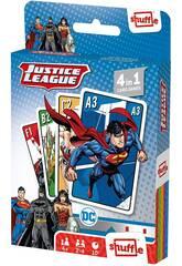 Carte da gioco per bambini Shuffle 4 in 1 Justice League Fournier 10025071