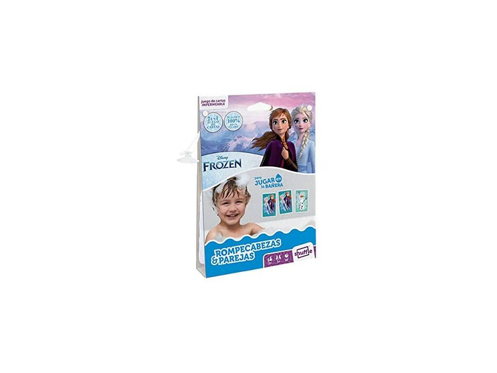 Baraja Infantil Shuffle Aqua Frozen Rompecabezas y Parejas Fournier 130012514