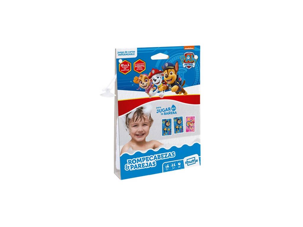 Baraja Infantil Shuffle Aqua Patrulla Canina Rompecabezas y Parejas Fournier 130012515