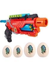Dino Attack Blaster avec 16 fléchettes et 4 œufs Diana Zuru 11013938