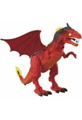 Dragon Walker 40 cm. Projecteur et mouvements Rouge