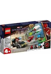 Lego Spiderman vs. Ataque del Dron de Mysterio 76184