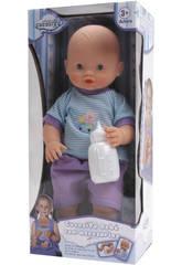 Muñeco 38 cm. Bebe y Hace Pipi Con Accesorios