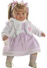 Muñeca Baby Dulzona Llorona 60 Cm Berbesa