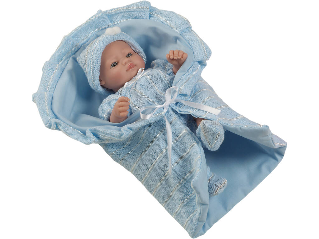 Bambolotto 25 cm Mini Recién Nacido Vestito Azzurro