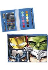 Maletín Artista 30 piezas Avengers Team