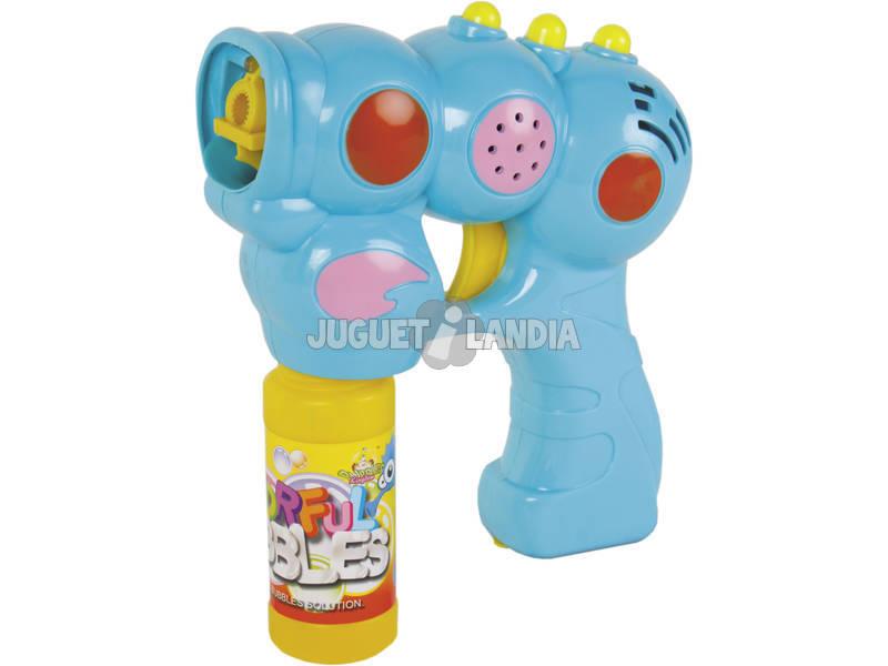 Pistola De Burbujas 14 cm. Con Luz y Sonido