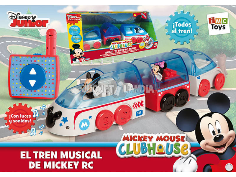 Comboio Rádio Controlo Mickey Mouse Club House