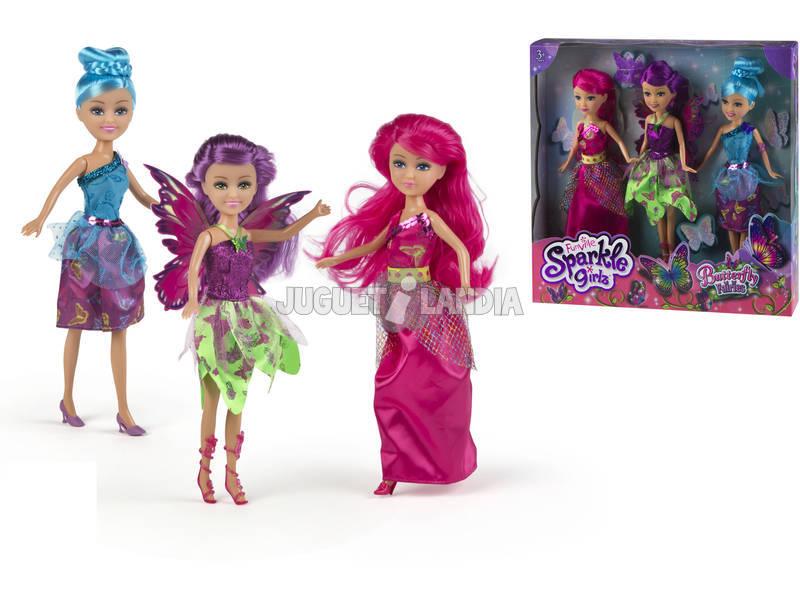 Sparkle Girlz Hadas Voladoras Pack 3 Muñecas