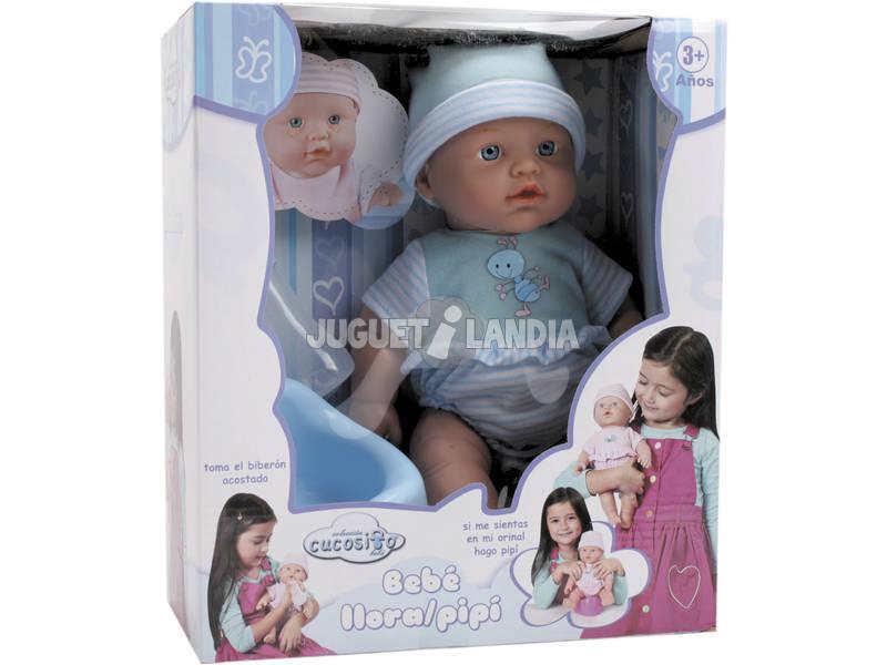 Bambolotto 30 cm. Bebè Pipì Con Accessori